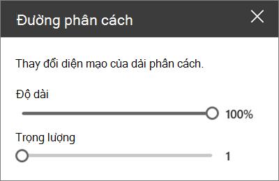Ngăn chi tiết phần web divider trong SharePoint Online khi chỉnh sửa site