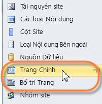 Trang cái SharePoint 2010
