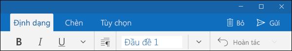 Tab Định dạng trong ứng dụng Thư Outlook