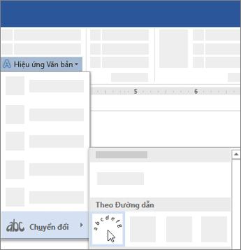 Tùy chọn chuyển đổi văn bản để truy nhập theo đường dẫn