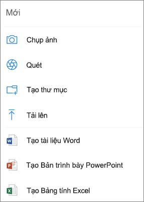Tải lên OneDrive