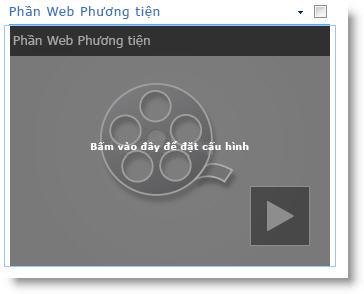 Phần Web Phương tiện mới chèn