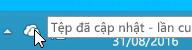 Một ảnh chụp màn hình hiển thị biểu tượng OneDrive màu trắng trong Windows 8.1.
