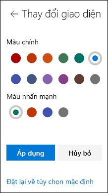 Tùy chỉnh giao diện của trang SharePoint của bạn