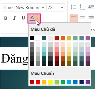 Chọn màu cho văn bản của bạn