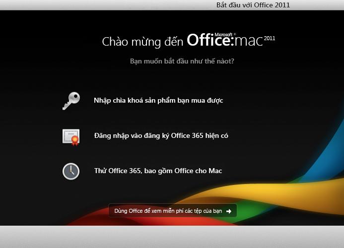 Đăng nhập vào đăng ký Office 365 hiện có
