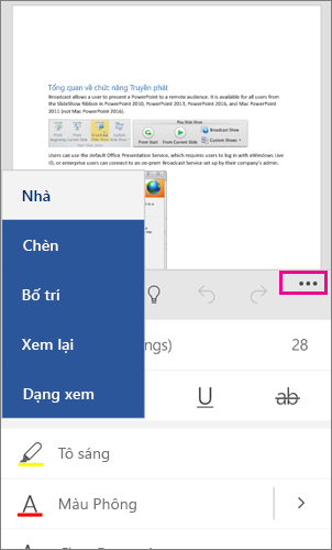 Ribbon Office for Windows Phone 10