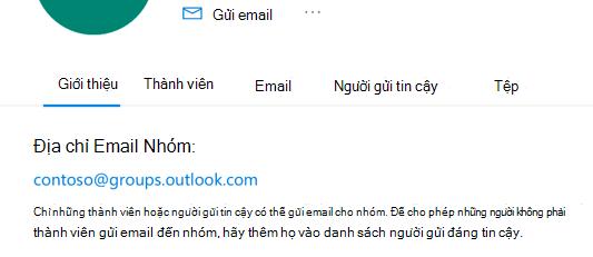 Thêm người gửi tin cậy vào nhóm Outlook.com.