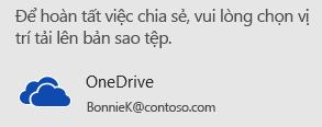 Nếu bạn vẫn chưa lưu bản trình bày của mình vào OneDrive hoặc SharePoint, PowerPoint sẽ nhắc bạn thực hiện điều đó.