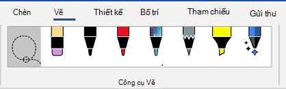 Tab công cụ vẽ của dải băng từ.