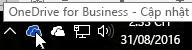 Một ảnh chụp màn hình hiển thị con trỏ đang di qua biểu tượng OneDrive màu lam, kèm theo văn bản OneDrive for Business.