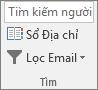 Trong Outlook, trên tab trang đầu, trong nhóm tìm, hãy chọn sổ địa chỉ.
