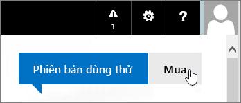 Nút để mua bản dùng thử Office 365 của bạn