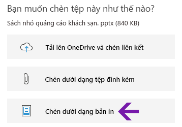 Tùy chọn bản in tệp trong OneNote for Windows 10