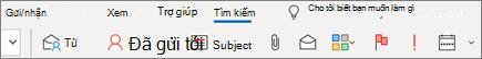 Sử dụng tìm kiếm trong Outlook