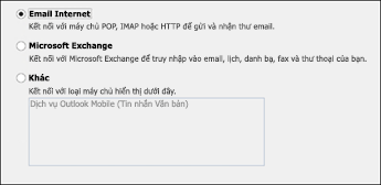 Chọn Email Internet