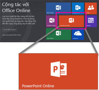 Chọn PowerPoint Online