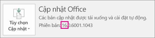 Cho bạn biết cách xác định phiên bản Office bạn đang sử dụng.