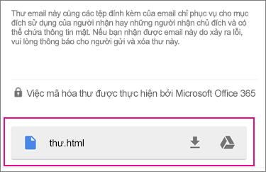 Trình xem OME với Gmail trên Android 1