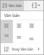 Căn chỉnh văn bản bảng Android