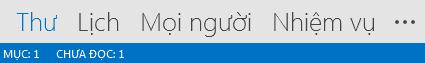 Tab Mọi người nằm ở dưới cùng màn hình Outlook.