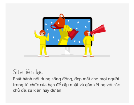 Site Liên lạc trong SharePoint Office 365