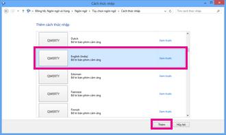 Thêm phương pháp nhập liệu trong Windows 8