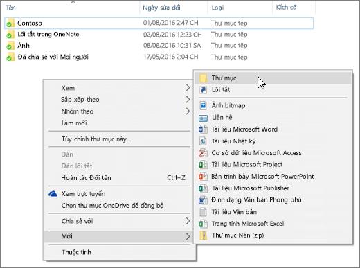 Một ảnh chụp màn hình hiển thị menu chuột phải trong File Explorer.
