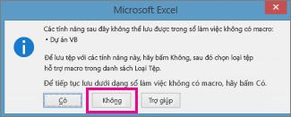 Sổ làm việc chứa macro hoặc mã VBA