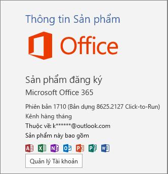 Bản dựng 365 Office thông thường