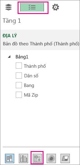 Biểu tượng Bong bóng trên tab Danh sách Trường