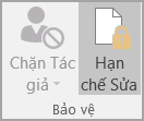 Tùy chọn Bảo vệ tài liệu