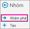 Nút khám phá trên ngăn dẫn hướng trong Outlook trên web
