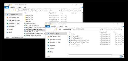 Các thư mục chồng lên nhau trong Windows