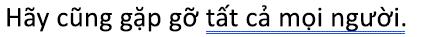 Một lỗi ngữ pháp được đánh dấu bằng một màu lam gạch chân đúp