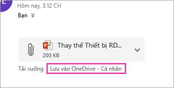 Ảnh chụp màn hình vào lưu vào OneDrive nút
