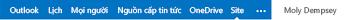 Site SharePoint trong dạng xem pc trên thiết bị di động
