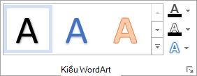 Nhóm kiểu WordArt