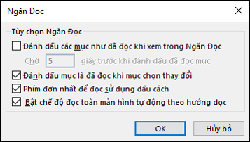 Bạn có thể thay đổi tùy chọn ngăn đọc.