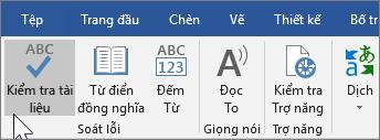 Hiển thị Kiểm tra Tài liệu dưới tab Xem lại