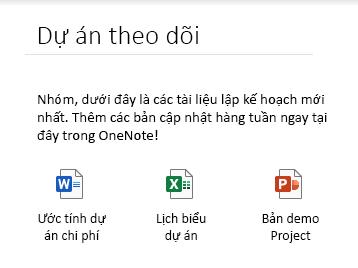 Nhúng tệp trên một trang trong OneNote for Windows 10