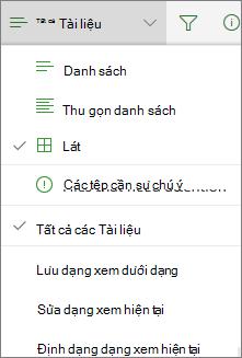 Office 365 thay đổi dạng xem thư viện tài liệu