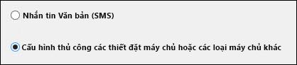 Cấu hình thủ công thiết đặt máy chủ trong Outlook 2010