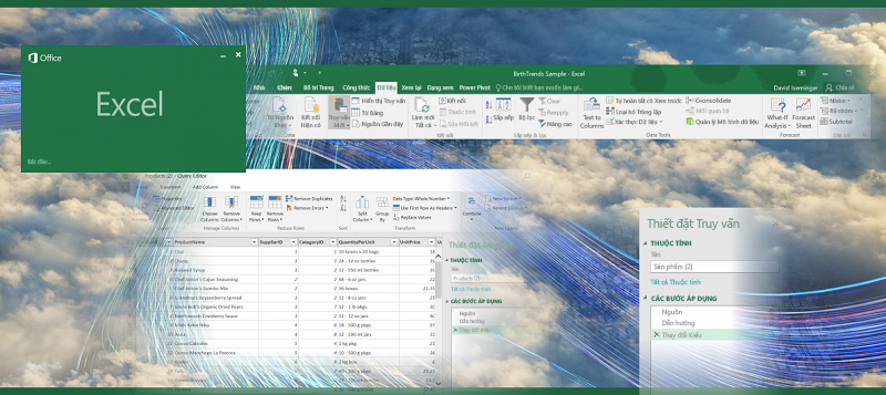 Truy vấn trong Excel 2016
