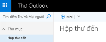 Giao diện của dải băng Outlook.com mới