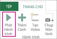 Nút Phát Hành trình trong cửa sổ Power Map