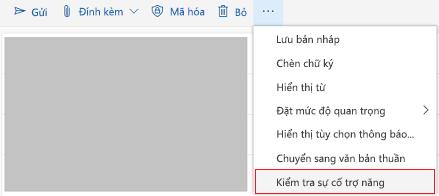 Kiểm tra Outlook Online với công cụ các vấn đề về trợ năng