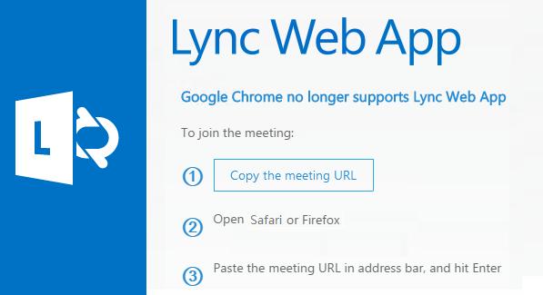 Screenshot for Lync error in Mac