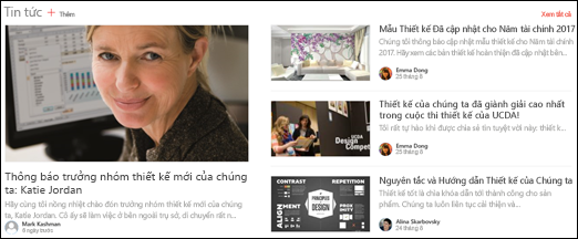Phần Web Tiêu đề Tin tức của Site Nhóm