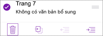 Xóa trang trong OneNote for iOS